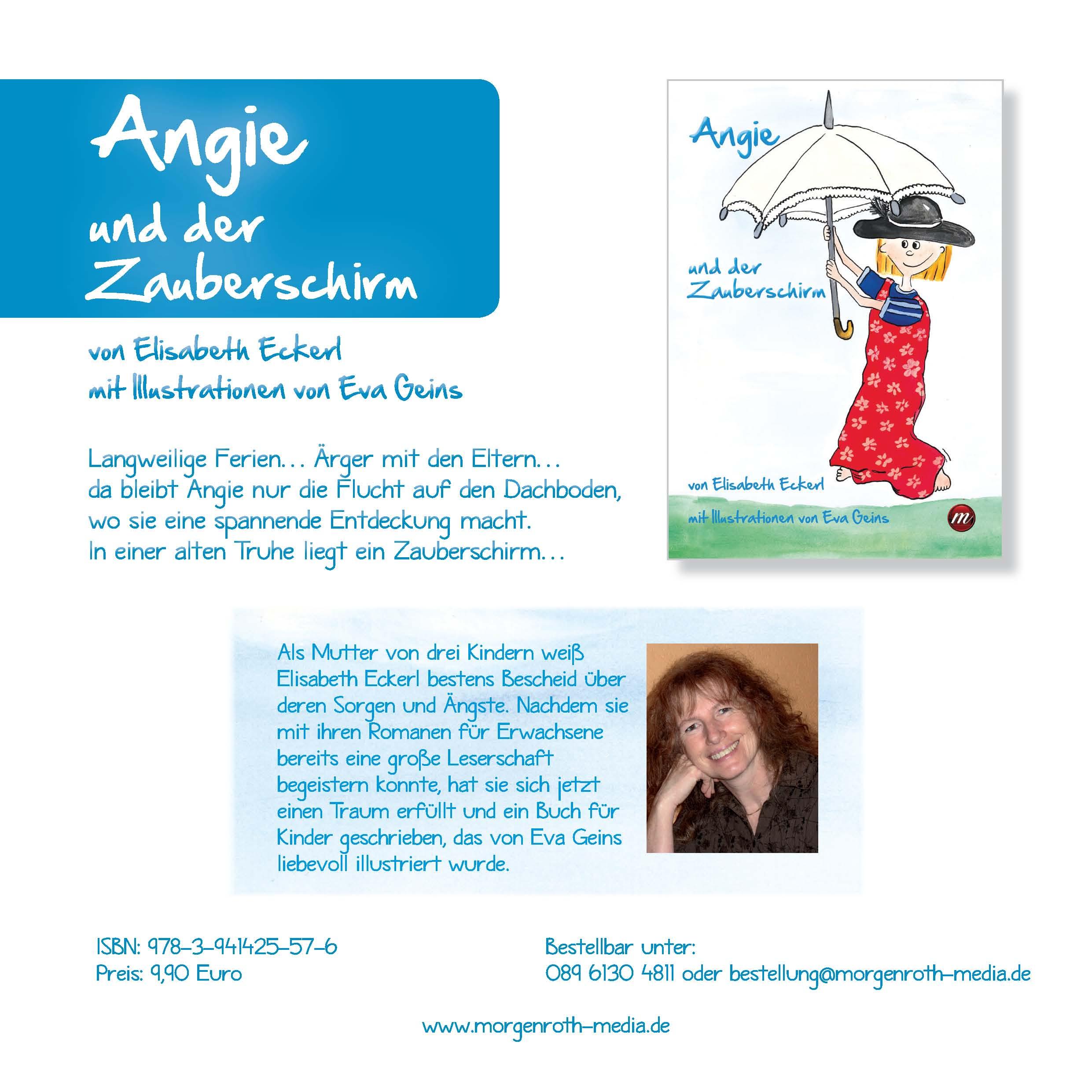 Elisabeth Eckerl Angie und der Zauberschirm